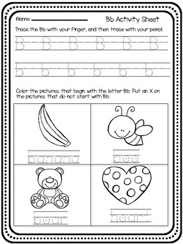 Handwriting, Letter sounds and Independent Work A-Z