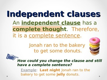 Independent and subordinate (dependent) clauses - Lesson and practice