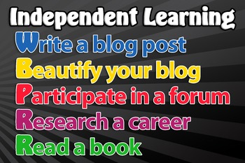 Independent learning poster
