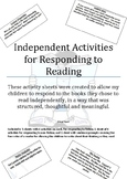 Independent reading response activities
