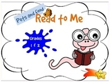 Reading Online - Pets and Food - Grades 1 & 2 - Independent activity
