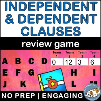 Independent vs. Dependent Clauses Bomb Game