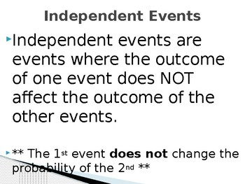 Independent vs Dependent Events PowerPoint