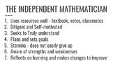 Independent vs. Dependent Mathematician - Classroom Poster