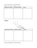 Independent vs. Dependent Short Note-taking Graphic Organizer
