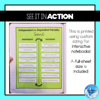 Independent vs. Dependent Variable Card Sort Activity