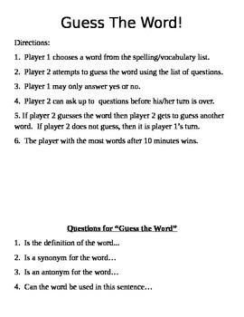 Independent word work activities