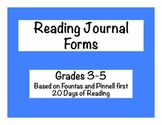 IndependentReading: Journal Forms: Grades 3-5