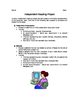 Independent Reading Project 2