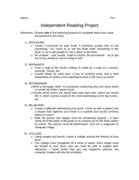 Independent Reading Project3