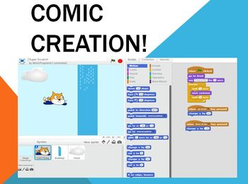 Indepth Lesson - Creating Comics on Scatch Coding Program! No experience needed!