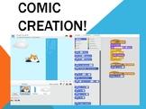 Indepth Lesson - Creating Comics on Scatch Coding Program!