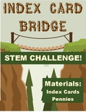 Index Card Bridge for pennies- Science STEM inquiry activity