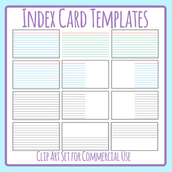 Index Card Template Worksheets Teaching Resources Tpt