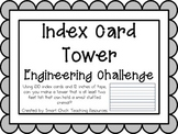 Index Card Tower: Engineering Challenge Project ~ Great STEM Activity!