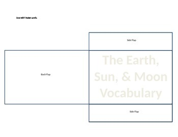 Index Card Vocabulary Card Pocket