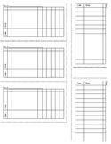 Index Card for Classroom Management