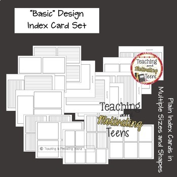 Index Cards Bundle - Editable Basic Set Plus Designs for Special Occasions