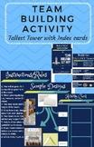 TOWER Challenge w/ Index Cards- First Day of School / STEM Challenge