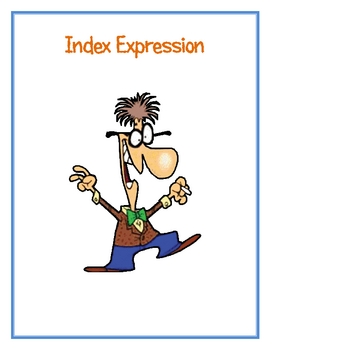 Index Expression (Writing Expressions)