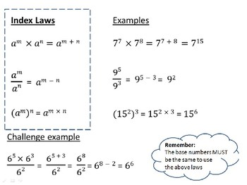 Index Laws