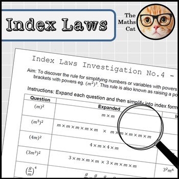 Index Laws Indices Investigation 4 - Brackets Raising a Power to a Power