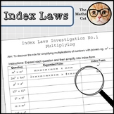 Index Laws Investigation 1 - Multiplying