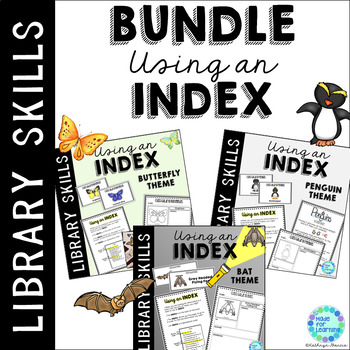 Library Skills: Index in the School Library Media Center: BUNDLE