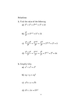 Index notation-multiplication and division laws