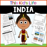 India Country Study: Reading & Writing + PowerPoint Distance Learning