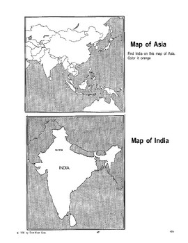 India: A Counting Chart, A Flag, and Maps
