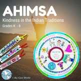 India! Ahimsa/Kindness - Lesson, PowerPoint, Bracelet, Earth Day Craft, Writing