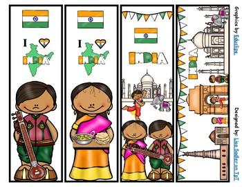 India Bookmarks -  4 Designs