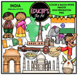 India Clip Art Bundle {Educlips Clipart}