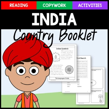 India Copywork, Activities, and Country Booklet