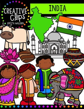 India {Creative Clips Digital Clipart}