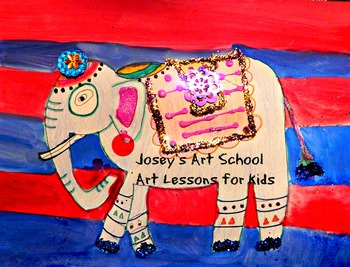 India Elephants Art History Lesson Art Project K-5th Grade Common Core ELA