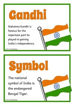 India Fact Cards