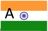 India Flag Letter Work