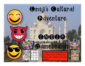 India Game - Emoji's Cultural Adventure Gameboard