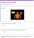 India Geography Now Video Questions - Distance Learning Online