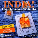 India! Hinduism for Kids - Lesson, Images, Easy Craft & Printables! Grades K - 5