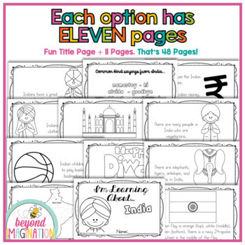 India Country Study   48 Pages for Differentiated Learning + Bonus Pages