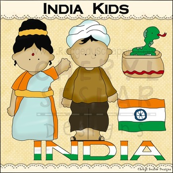 India Kids ~NO LICENSE REQUIRED CLIPART COLLECTION~