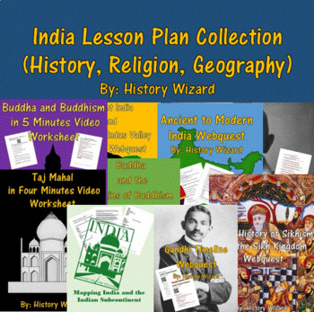 India Lesson Plan Collection (History, Religion, Geography)