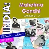 India! Mahatma Gandhi - Lesson, Pop-Up Activity Mapping Craft Grades 3 - 6