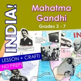 India! Mahatma Gandhi - Lesson, Pop-Up Activity Mapping Craft Grades 3 - 6