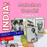 Character Education - Peace - Mahatma Gandhi - Lesson, Pop-Up Activity Craft K-2