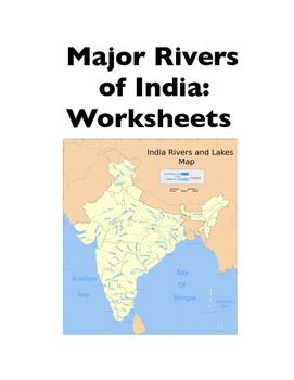 India: Major Rivers of India (Worksheets)