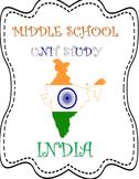 India MiddleSchool Unit Study